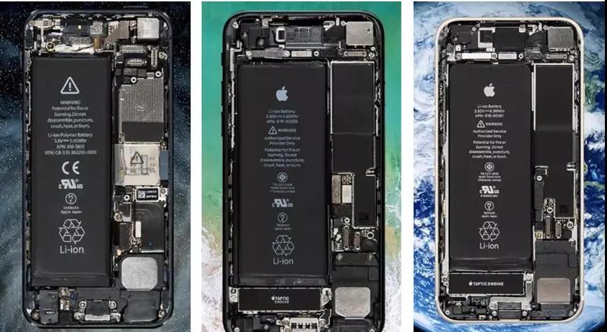 图:初代 iPhone 到 iPhone X 的内部图 从内部结构来看,第一感觉就是越来越整洁。十年间,电池位置的变化,各种工艺都在进步,处理器从ARM11到A11,屏幕尺寸从3.5英寸到5.8英寸,从一开始的塑料发展到今天以金属玻璃为代表的新一代材质,而诸如陶瓷、双材质混搭等风格更是让人眼前一亮。 从机身的材质来看,一直采用玻璃和金属材质,在2014年以前的苹果手机均是采用的 2D 玻璃,从iPhone 6才开始引入2.