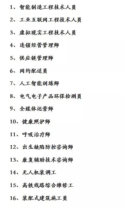 人社部拟发布16个新职业 人工智能训练师等入围