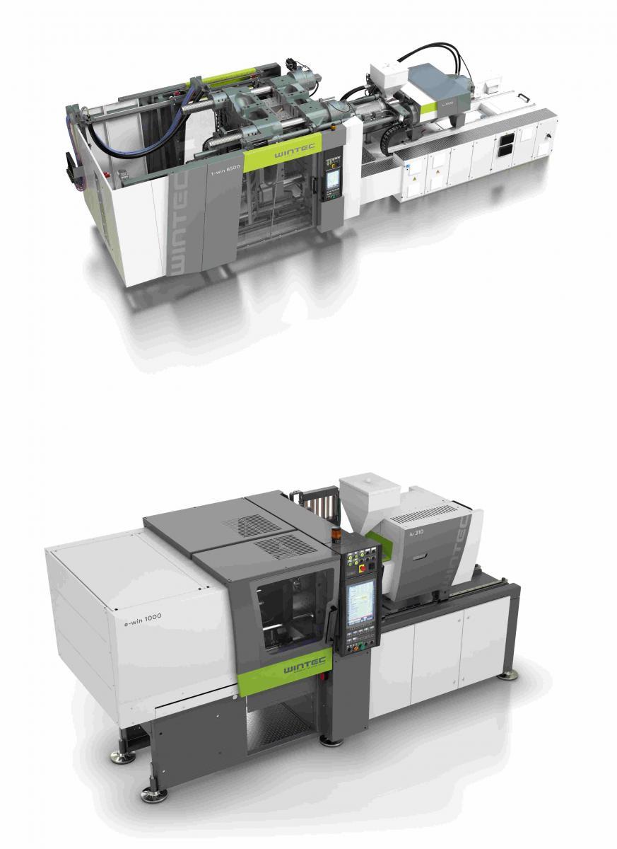 t-win系列液压注塑机和全电动 e-win WINTEC 注塑机自 2014 年以来供应亚洲市场。t-win 和 e-win 这两个系列已经在该市场奠定了扎实的基础。WINTEC根据标准应用要求度身制造具有高生产率、高能效和高品质的注塑机,且结构紧凑,持久耐用。这三件展品将充分展示高品质如何与高效率相结合,以满足不同行业的需求。 t-win:高能效和灵敏的模具保护 t-win 系列液压注塑机提供450 至 1750吨的锁模力,是生产大型或三维复杂部件的理想选择。在 NPE 国际塑料展期间,一台锁模力为