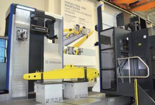 利用立式铣 - 钻动力头 FLP 8000 和 FP 8000 可以完成挖掘机臂的 全部加工,是龙门式加工中心理想的替代解决方案。而被加工零件 对称性的结构和数量是选择这种加工机床的重要前提条件。