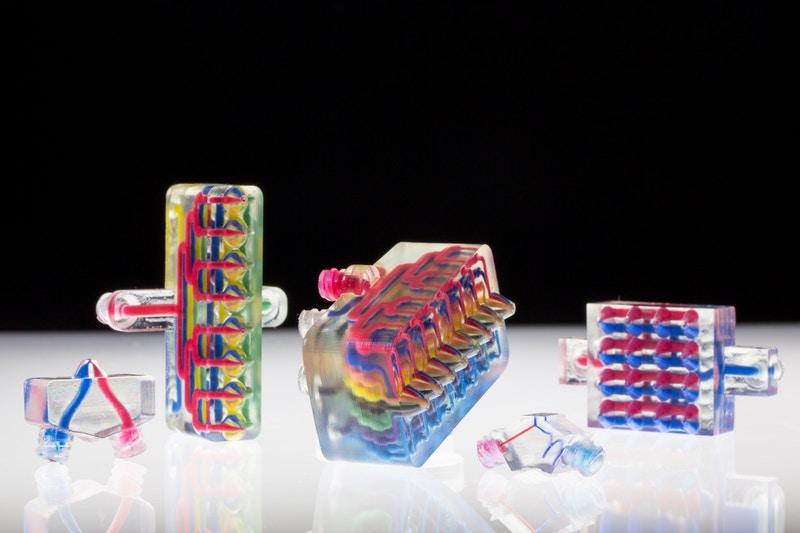 用于多材料多噴嘴3D打?。∕M3D)的示例打印頭