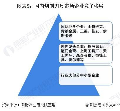 图表5:国内切削刀具市场企业竞争格局