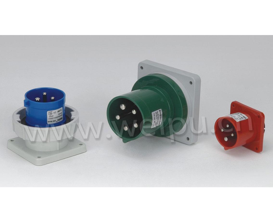 威浦TYP系列|暗装器具输入|IP44/IP67|工业防水插座|16A/32A/63A/125A